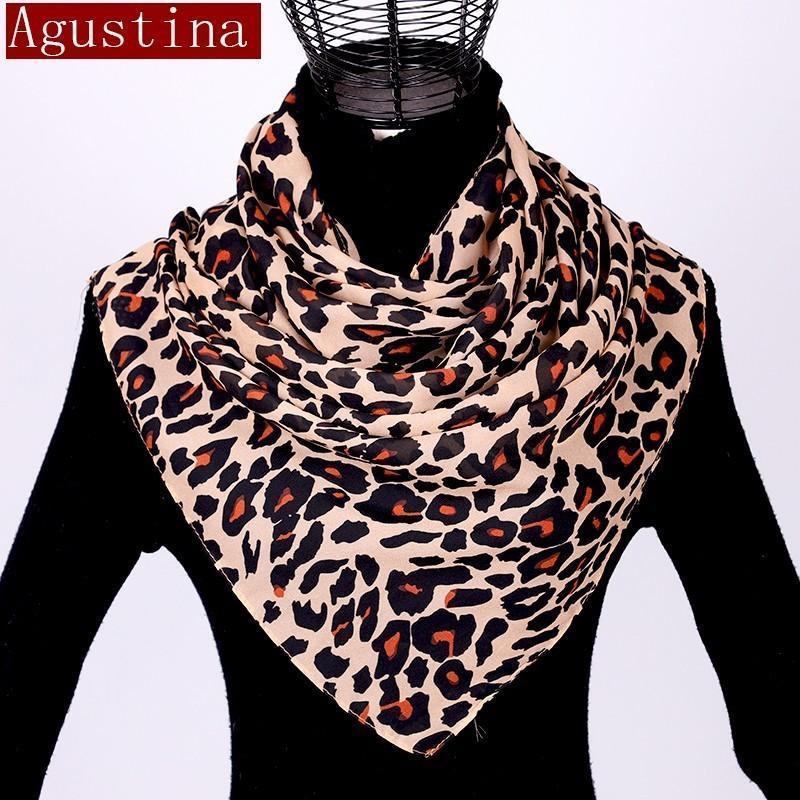 Chiffon xale cachecol estampa de leopardo das mulheres de moda hijab inverno lujaard sjaal schal outono longo lenços poncho senhoras de luxo hijab
