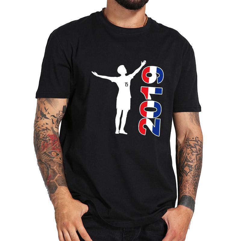 Tamaño de la UE Camiseta de algodón 100% Camiseta de fútbol para mujer de EE. UU. 2019 Camiseta de pose ganadora de Rapinoe Camiseta con cuello redondo Camiseta de verano