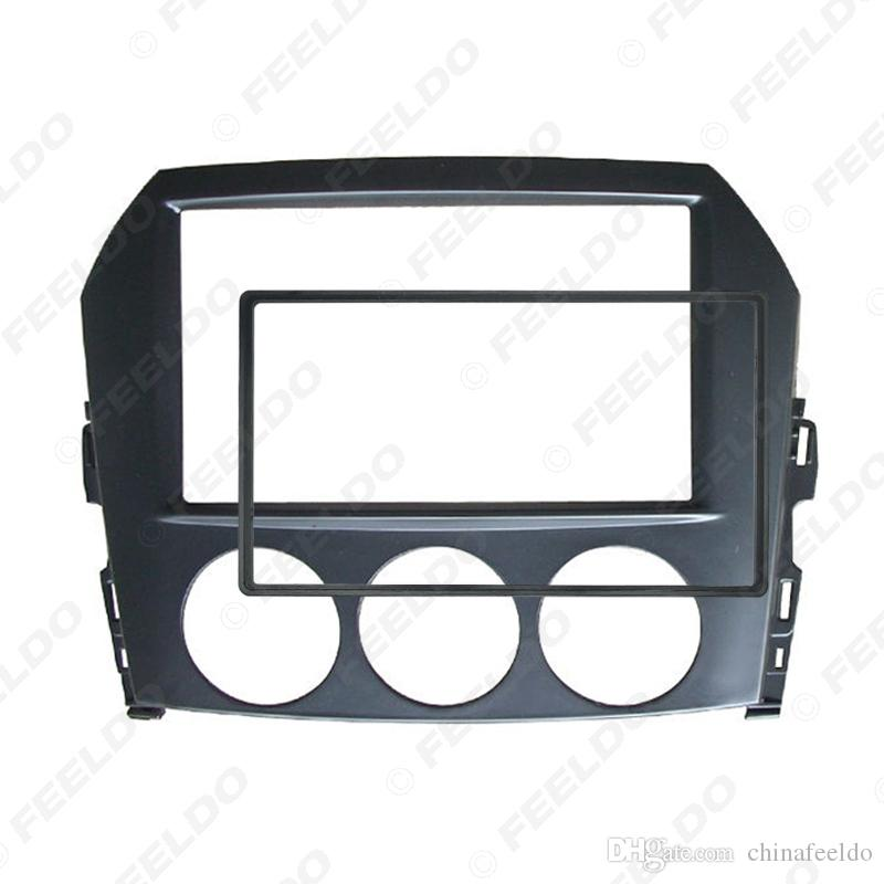 2DIN Car Audio Radio Fascia Frame For Mazda MX-5 Miata 2005+ Head Units Stereo Plate Trim Panel Dash Mount Kit #5006