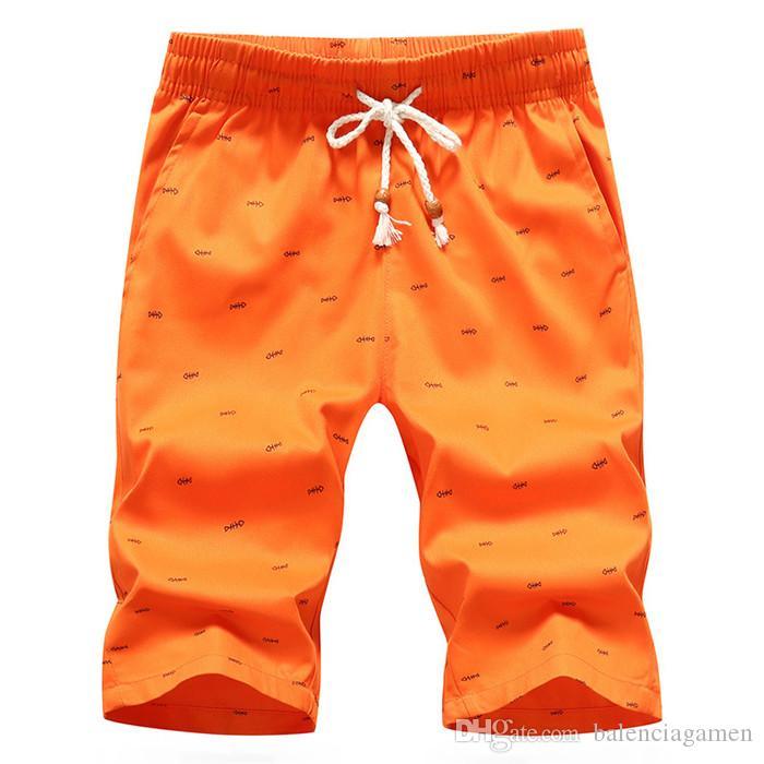 Plus La Taille Hommes Shorts Coton Loisirs Sport Pantalon Hight Qualité Plage Pantalon Maillots De Bain Mâle Lettre Surf Vie Hommes Shorts De Bain