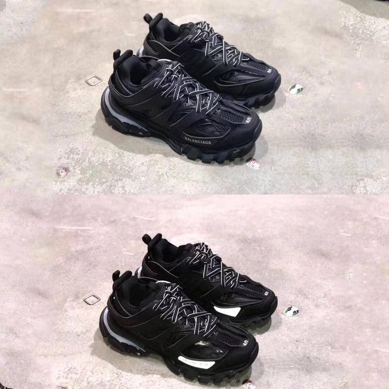 Triple de lujo S 3.0 Plataforma de las zapatillas de deporte al aire libre de las zapatillas de deporte llevado Tess S. Gomma Trek malla de nylon para hombre Pista Formadores Diseñador ShoesL24 informal