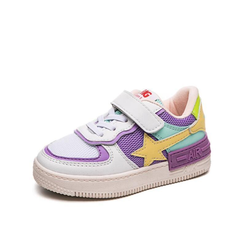 New Children Sneakers For Boys Girls 2020 Fashion Leather Trainers Children School Sport Shoes Soft Running Kids Casual Sneakers