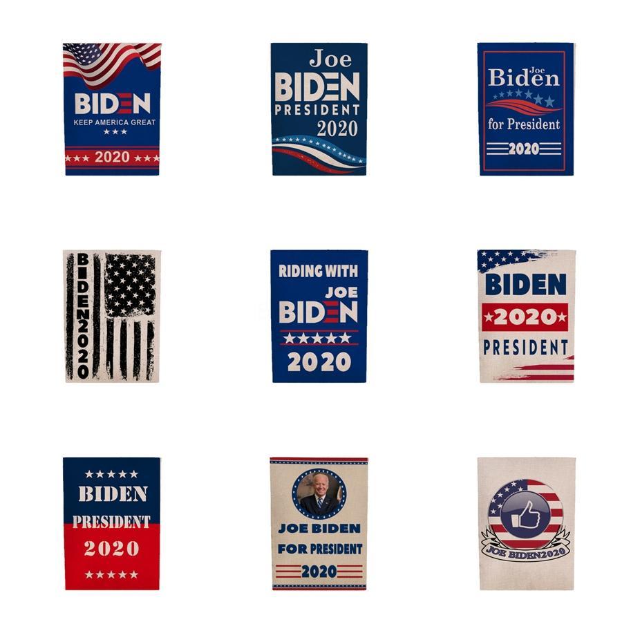 2019 45 * 30cm Donald John Biden Amercia Flags Poliéster Metal Head Grommet Personalidade decortive bandeira da bandeira Biden frete grátis # 127