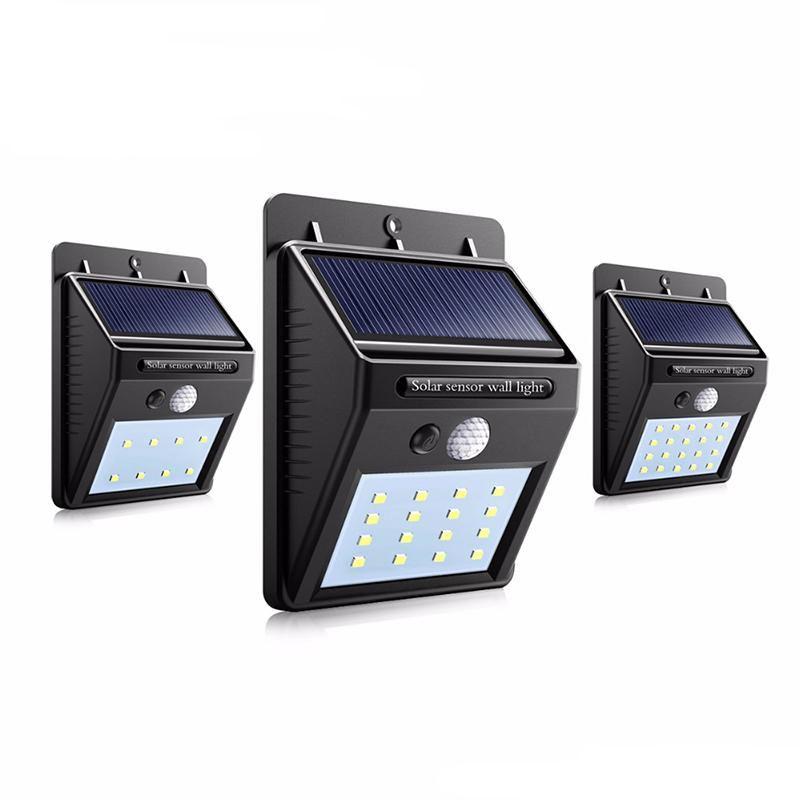 태양 광 발전 LED 태양 PIR 모션 센서 밤 보안 전구 거리 마당 경로 정원 램프와 조명 실외 벽 LED 태양 램프
