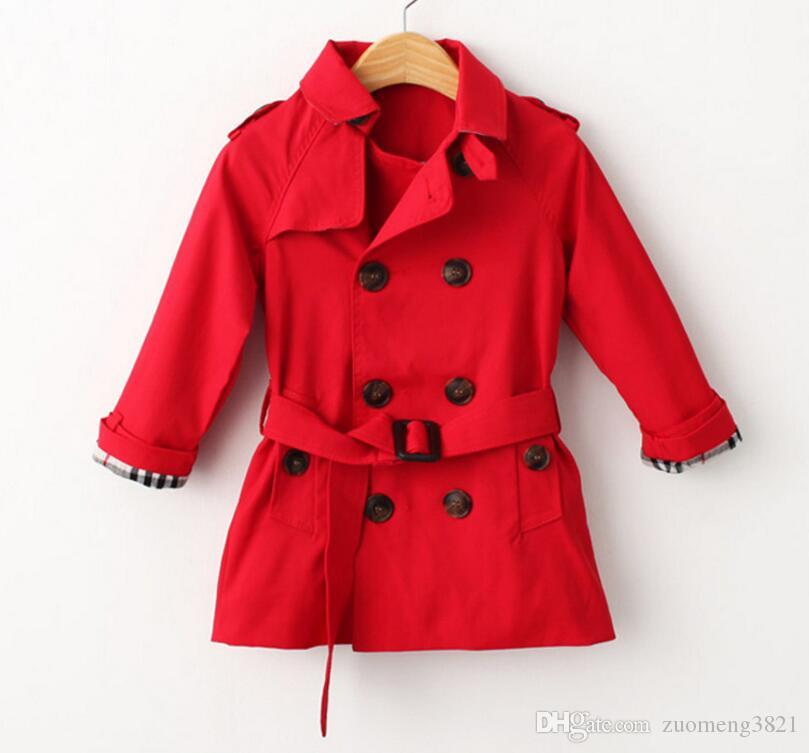 Trench Jacket Kids Windbreaker Autumn Baby Thin Children Outerwear Girls Jackets