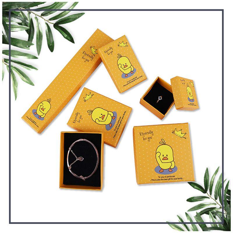 [DDisplay] Желтый B.Duck Tiny Ювелирная Коробка Гламур Кольцо Коробки Серьги Wayfair Маленький Дисплей Ювелирных Изделий Персонализированные Ожерелье Пакет Коробка для Девочки