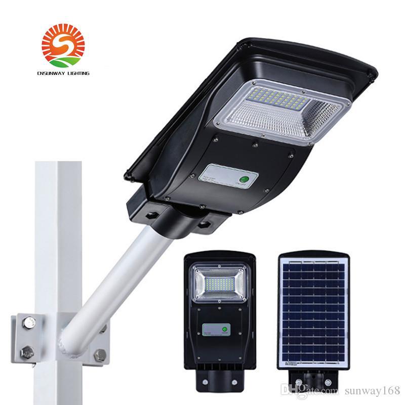 Модернизированный Солнечный Свет 20 Вт 40 Вт 60 Вт Светодиодный свет безопасности Водонепроницаемый Открытый Ландшафтное Освещение Авто Вкл / Выкл для Двор Сада Подъездной путь