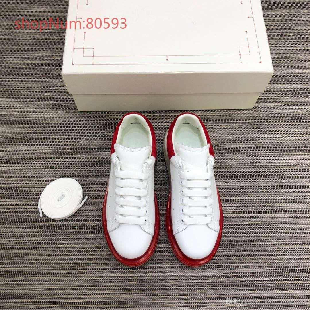 Couple Shoes Hot Selling High Quality Mens Womens Fashion Luxury Shoes Couple Designer Leisure Shoes Genuine Leather Size 35-44