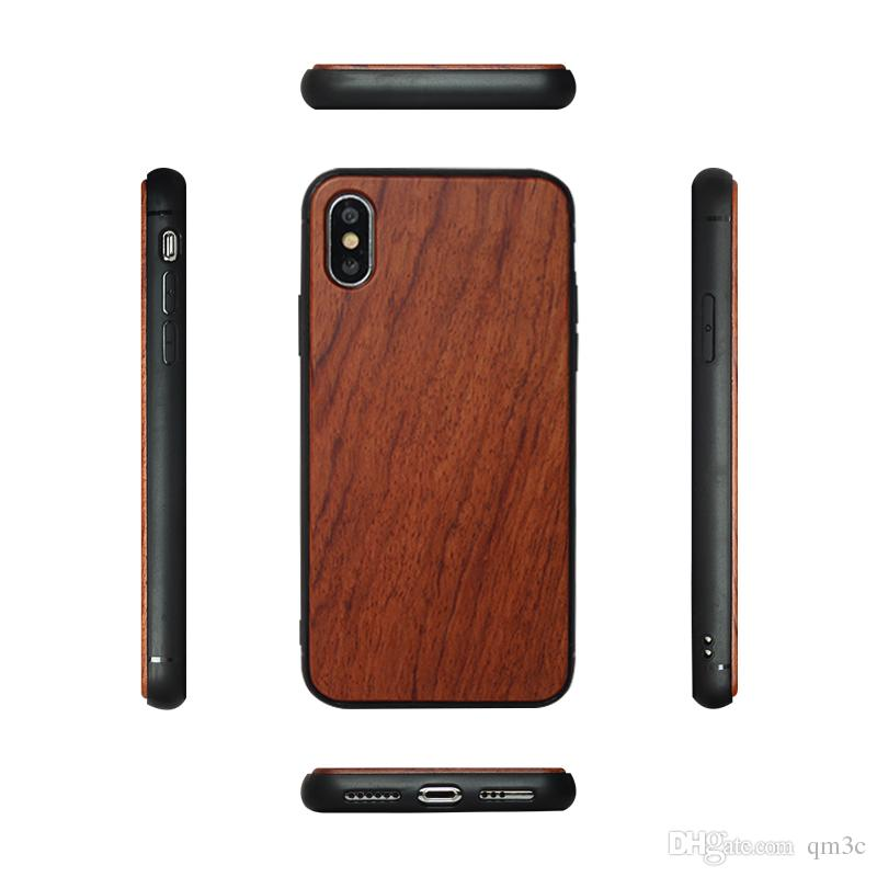 Wholesale Hot Design Round edge WOOD+TPU Phone Case For Iphone X/XS/XR/XS MAX Natural Bamboo Wooden Cover For Iphone 7 8 Plus 6 6s Free DHL