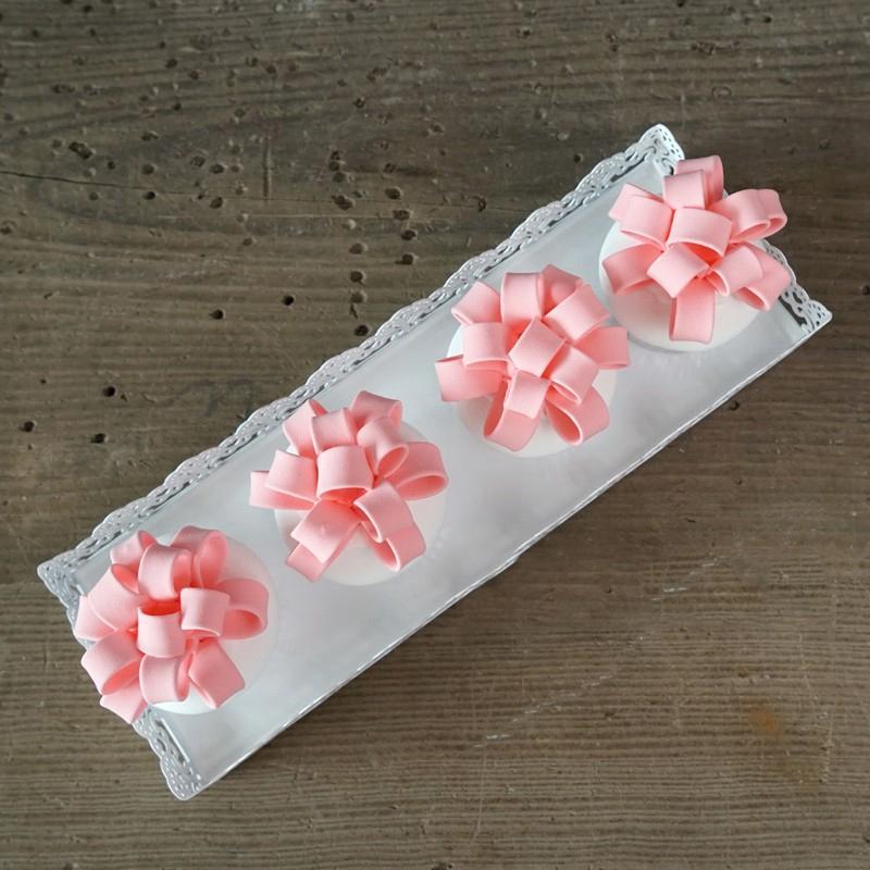 Rectangle Plateau pour petit gâteau de mariage Outils gâteau pour l'affichage Décoration Plate Party événement Décoration Bakeware