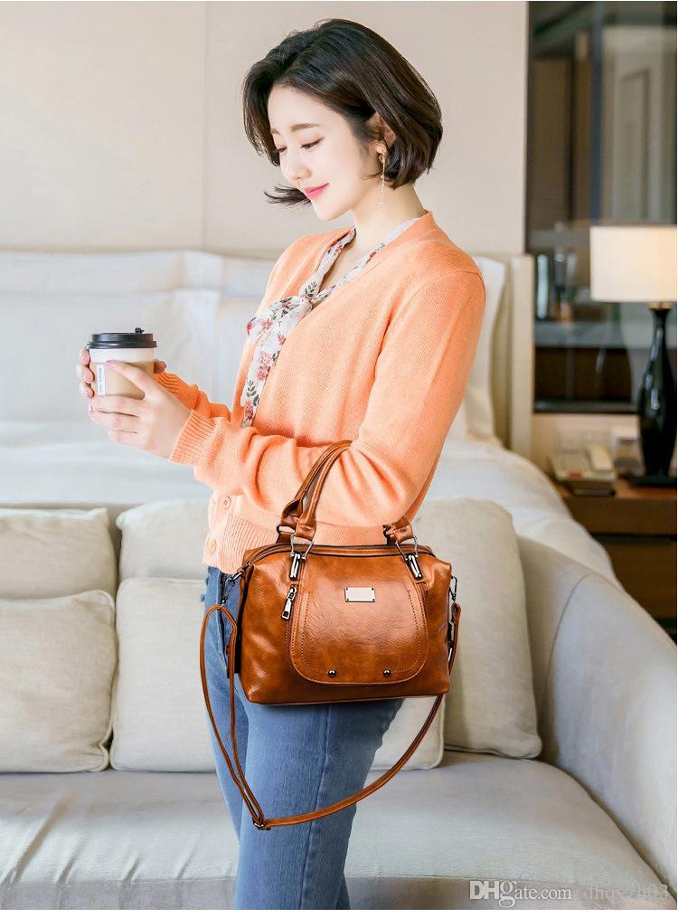 2019 nuove signore di alta qualità borsa di modo borsa a tracolla sul posto di lavoro con cerniera borsa cuscino di disegno pelle PU 3 colori