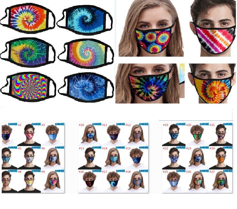 3D Stampato Maschera Uomo Donna Bambini di seta Bocca Maschera Ombra lavabile Outdoor Sun UV di protezione Designer Maschera per il tie-dye HH9-3051