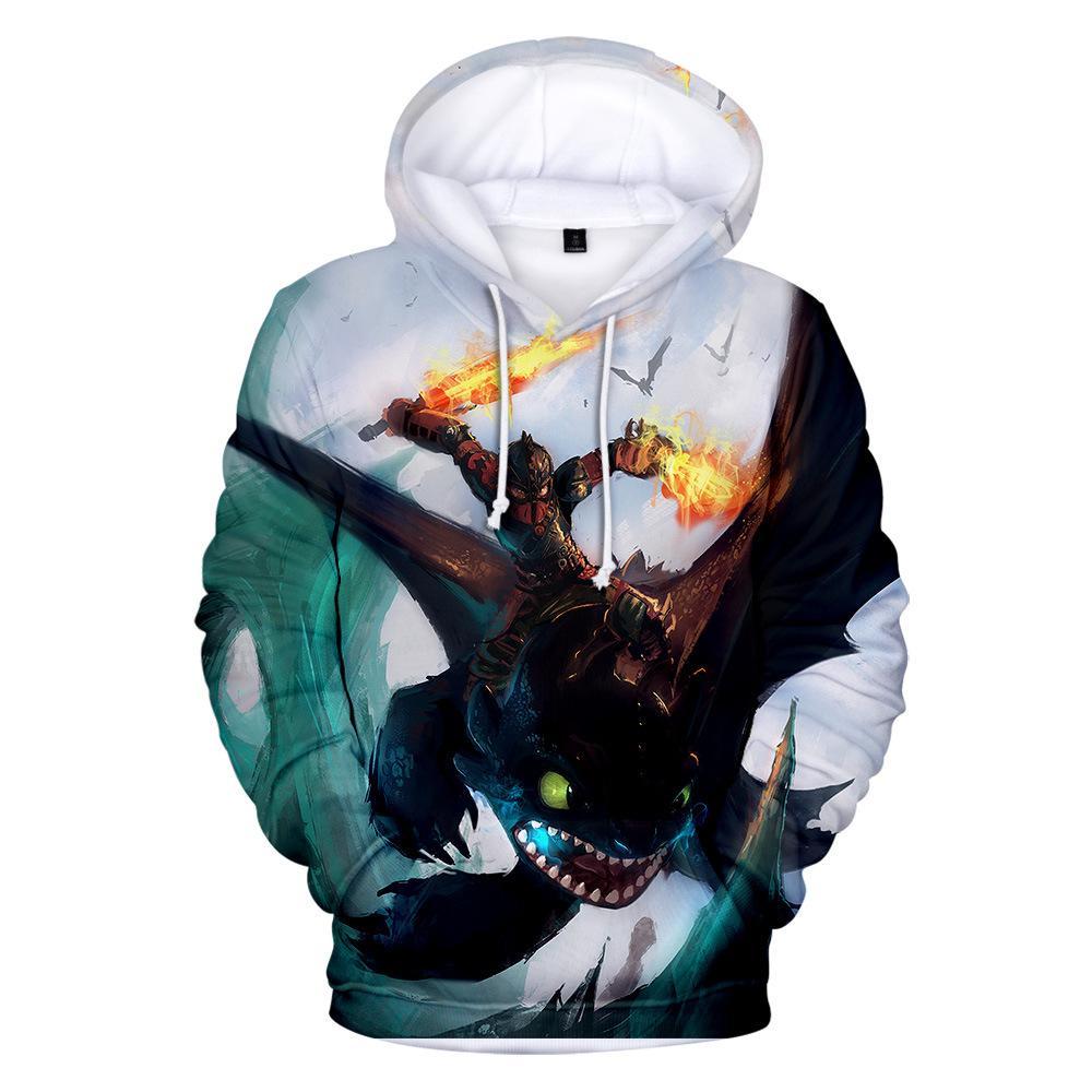 Großhandel Drachenzähmen Leicht Gemacht 3 Night Fury Leichter Hoodie Mit Kapuze Sweatshirt Mantel 3D Sweatshirt Für Männer Und Frauen Von Beimu,