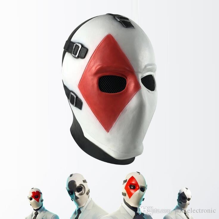 Halloween Máscara Máscaras Poker Face Máscara Dance Party Latex Masquerade Máscaras Cosplay Festival Adulto Máscaras