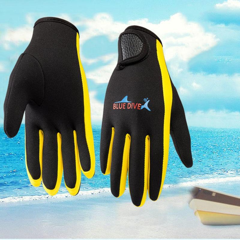 2018 Winter-1.5mm Neopren Damen Herren Schwimmen Tauchen Handschuhe mit den Magic Stick Anti-Rutsch-Kalt-Beweis Warm Schwimmen Handschuhen