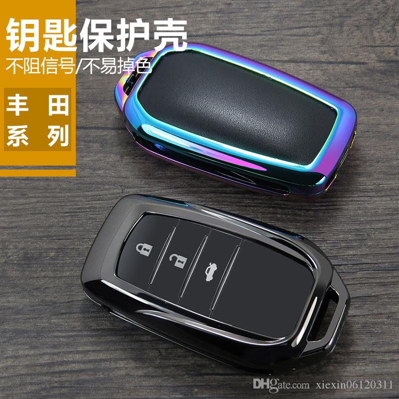 2019 Zinc Alloy Car Key Cover Case For Toyota Chr C-hr Land Cruiser 200 Avensis Auris Corolla 2&3 Car Styling Key Protection key