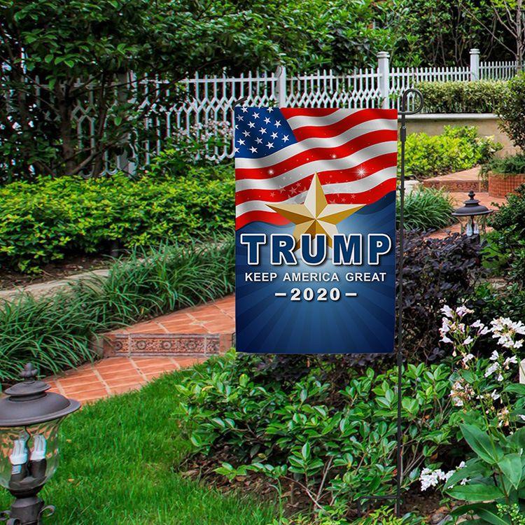 Трамп 2020 сад флаг Дональд Трамп флаги держать Америку Великий Президент День Независимости кампания сад баннер 30X45CM