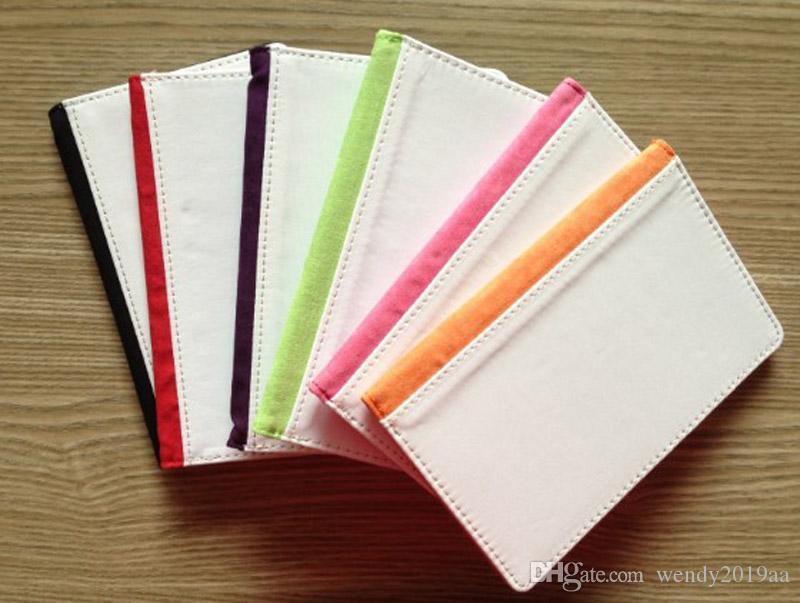10 قطع 5 ألوان التسامي فارغة حامل بطاقات جواز سفر غطاء نقل القلب الطباعة بو الجلود جواز سفر حالة