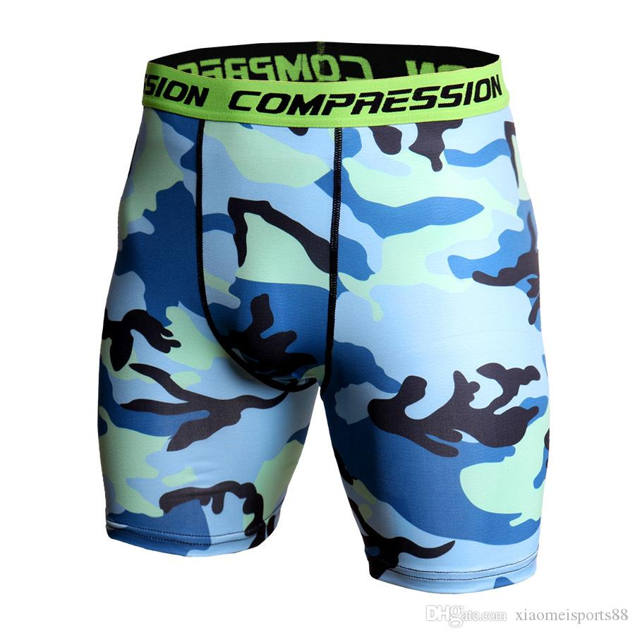 neue Fitness Strumpfhosegamaschen Men Compression Crossfit Shorts Herren Laufhose Camouflage Bermuda Shorts Jogging Bodybuilding Strumpfhosen