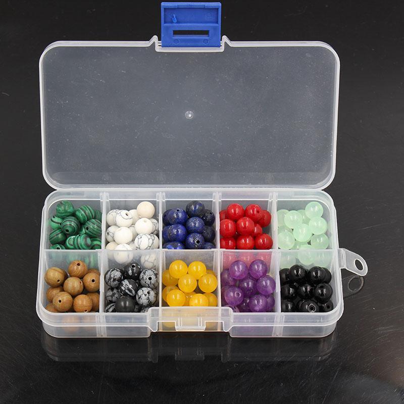 Howlite Natural, Lapis, Red Stone DIY Contas Kit Set para Pulseira Colar de Jóias Fazendo, 150 Pcs Pedra Beads Box Charme Acessório