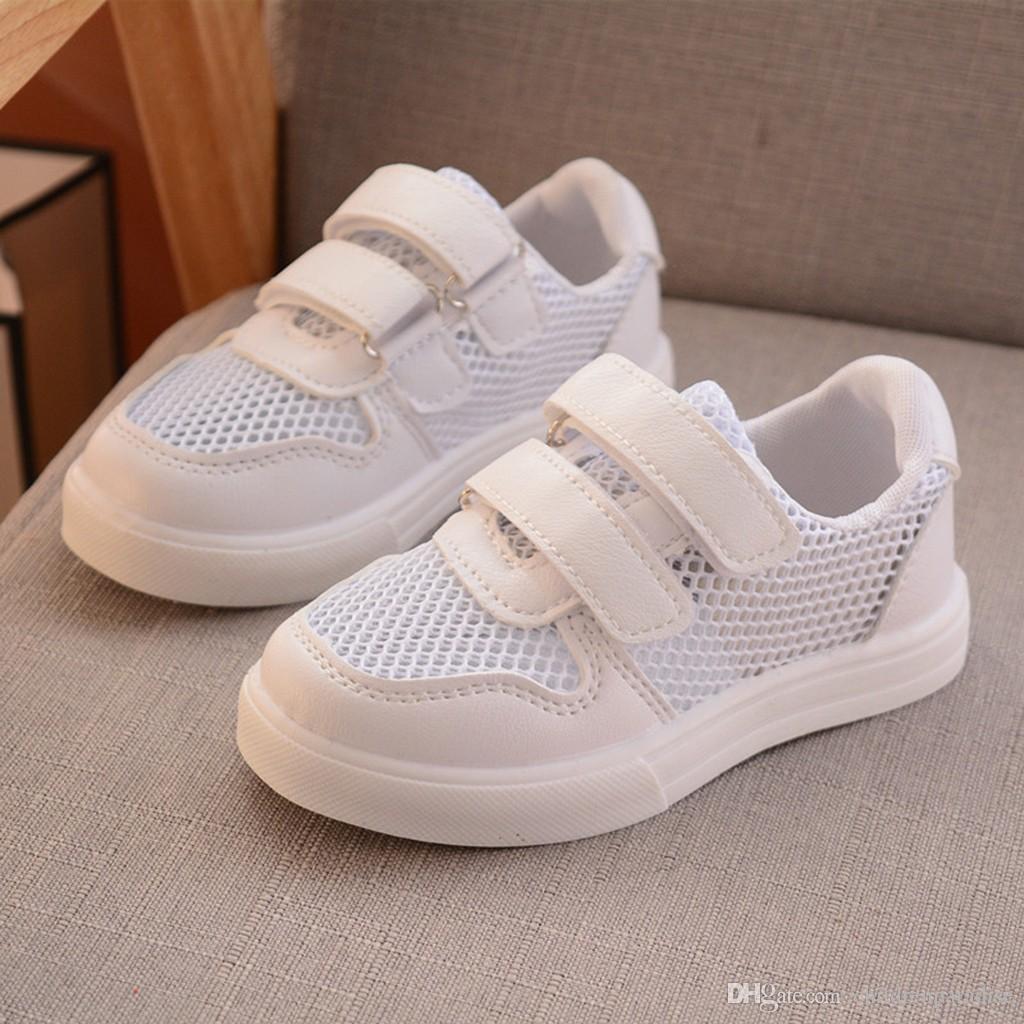 2019 Primavera Crianças Sapatos Moda Malha Crianças Casuais Tênis Para O Menino Da Menina Da Criança Bebê Respirável Sapatos de Desporto