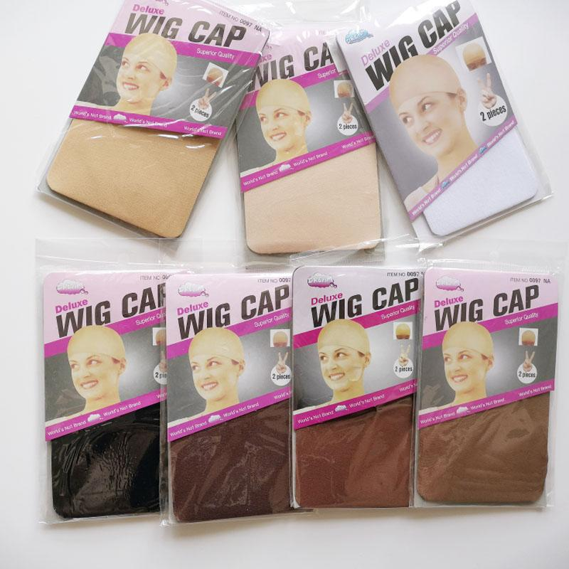 머리망 30PCS (15bag) 스타킹 모자 패션 신장 가능한 메쉬 가발 캡 메쉬 제직 블랙 브라운 베이지 가발 헤어 넷 캡의 머리망 만들기