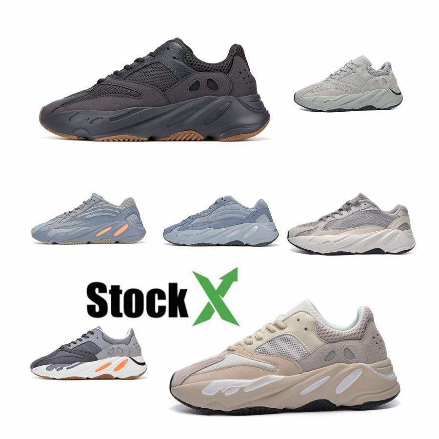 2020 Лучшие качества с коробкой Дешевые 700 V3 Azael Kanye West обувь Мужские кроссовки для мужчин 700S обувь Спорт Tripler Мода кроссовки # QA408