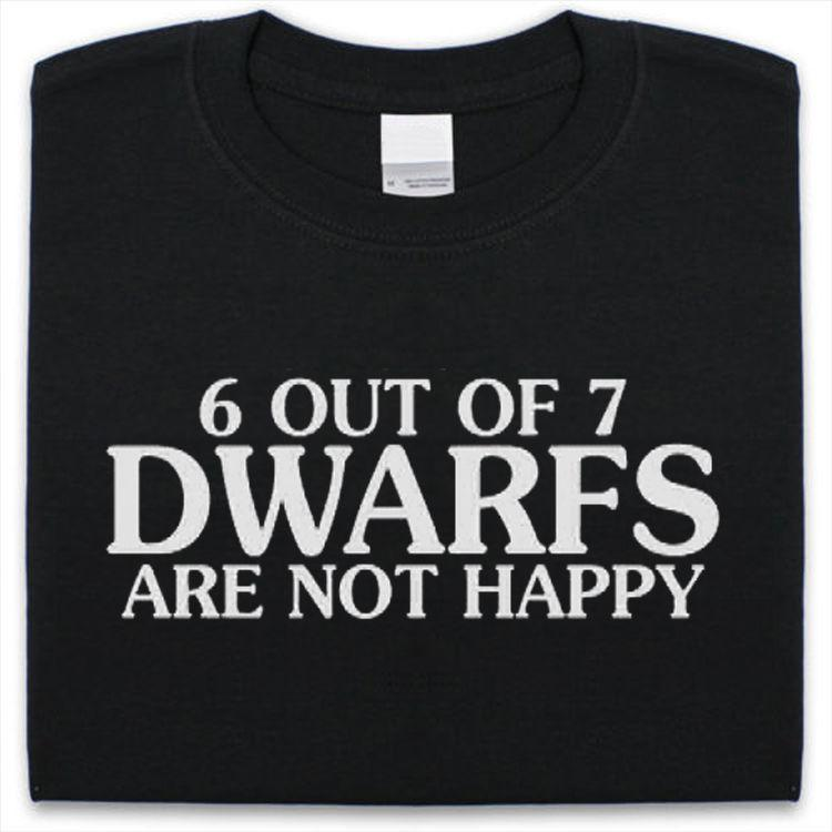 6 OUT OF 7 DWARVES KIDS CHILDRENS T SHIRT TOP NEW BOYS GIRLS FUNNY DESIGN