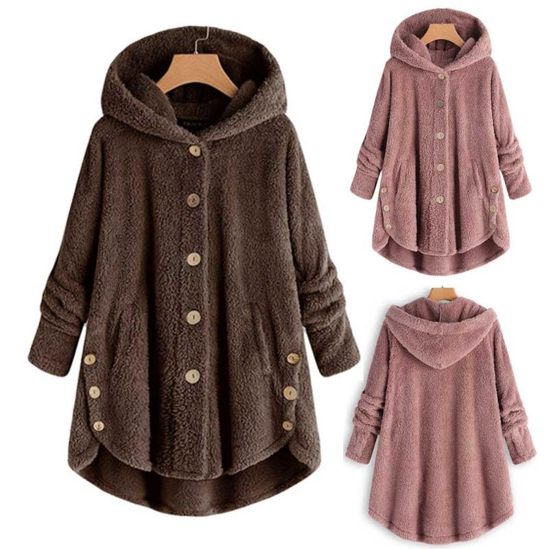 Are you sure not to click in and see?Fashion Women Button Coat Tail Tops Hooded Pullover Loose Sweater 2020 fashon hot new