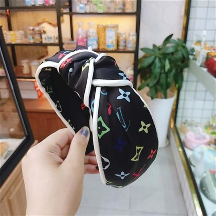 Vintage Bandeau Flower noueuse Band cheveux pour les femmes de mode INS coréenne filles Accessoires cheveux fée simple rayé Hairband