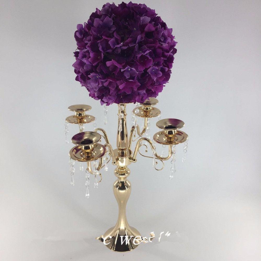 new style Wedding Metal Gold Color Flower Vase Column Stand for Wedding Centerpiece Decoration senyu0221