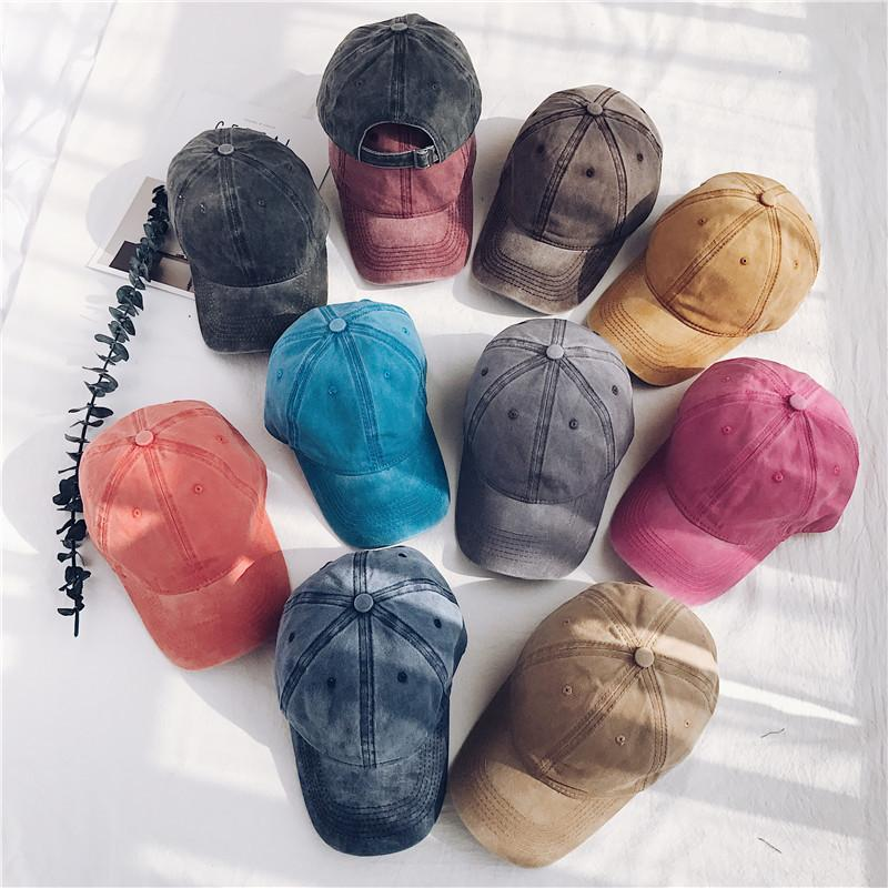 Vintage Washed Dyed Baseball Cap Low Profile Adjustable Unisex Classic Plain sport outdoor summer Dad Hat Snapback AAA1999