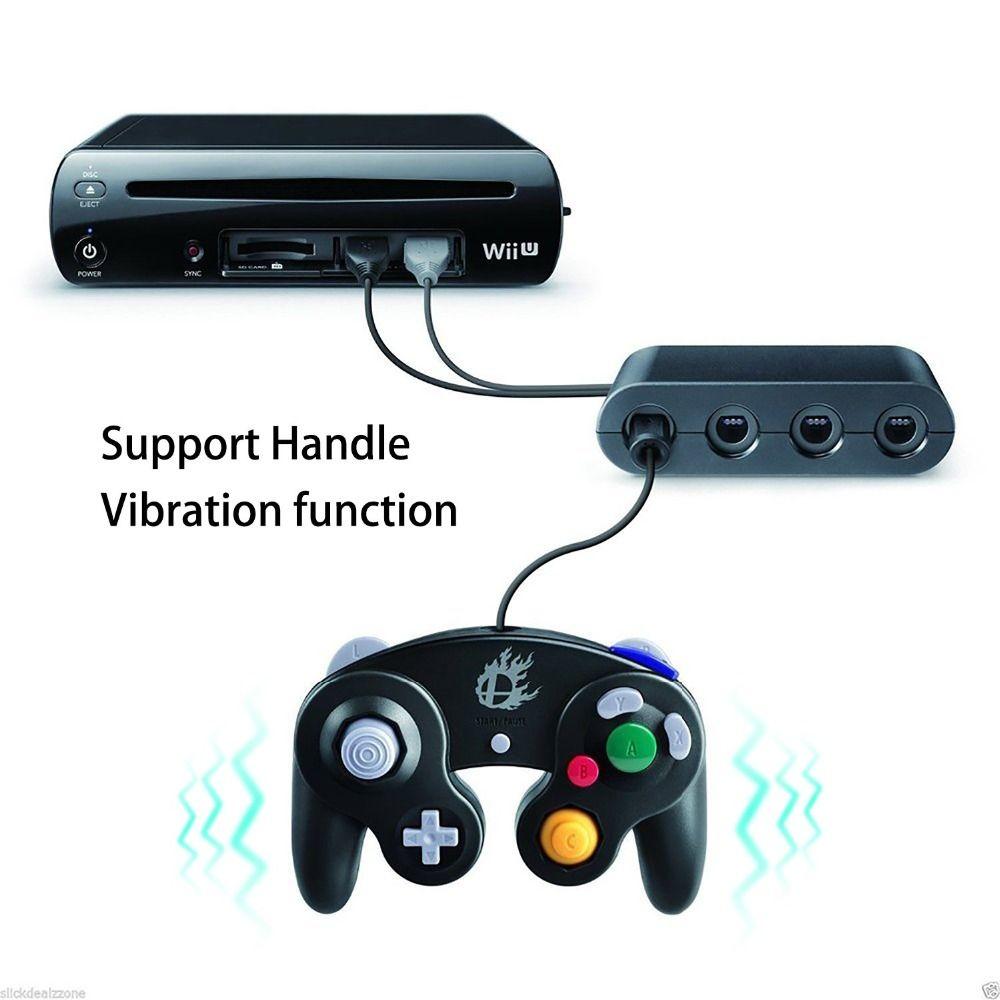 Denetleyici Adaptörü. Wii U, PC için Anahtarı Oyun-küp adaptör Super Smash Bros.. Turbo ve Titreşim Özellikleri Destek