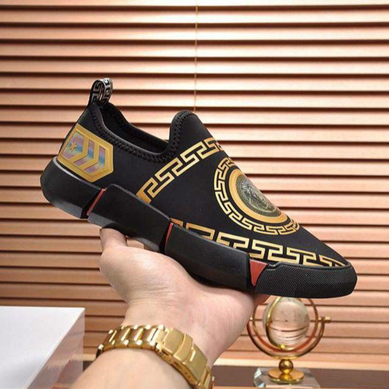 Плоские повседневная обувь дизайнер бутик мужская обувь размер 38-45 европейская станция моды с плоской обуви классический стиль