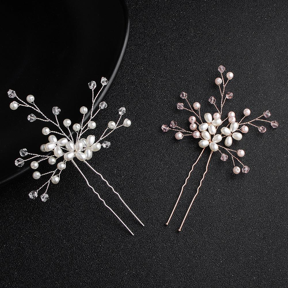 2019 Fashion Crystal Peals Women Hairpins Wedding Hair Accessories Handmade Headpieces For Bridal Hairstyle Jcf034 From Fishtaotao 10 05