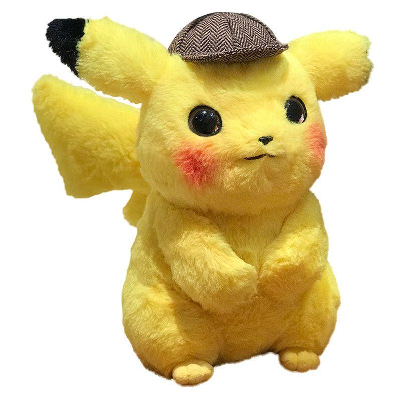 2020 28cm Detective Pikachu Plush Toy 11inch Anime Cartoon Movie