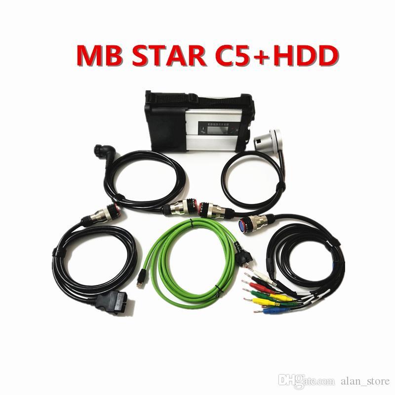 2019 Surper MB ESTRELA C5 SD conectar Diagnóstico ferramenta Multi-Langauge com total Macio-ware 2.019,09 HDD MB SATR C5 para o carro e caminhão
