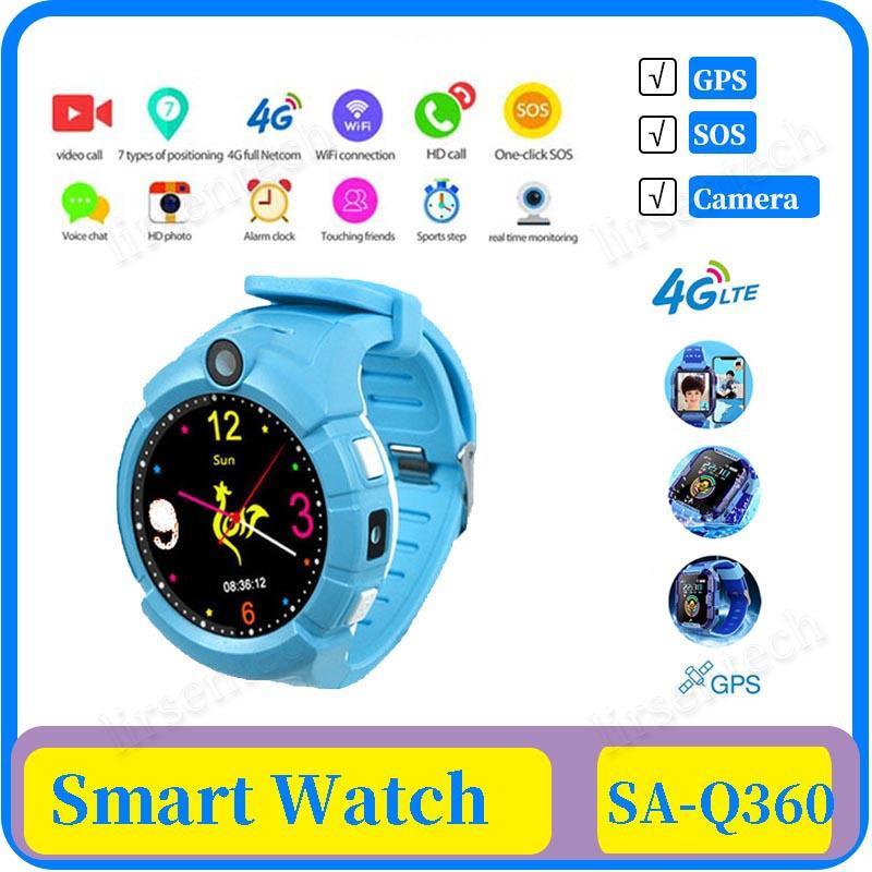 Q360 Kids Smart Watch with Camera GPS WIFI Location Child smartwatch SOS Anti-Lost Monitor Tracker baby WristWatch