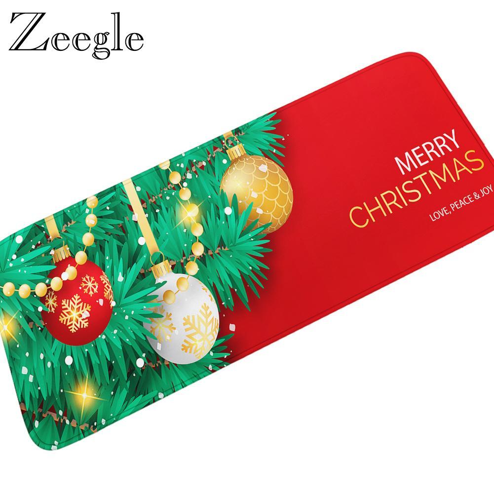 Zeegle Weihnachten Teppich Flanell weiche Nacht Teppich Mat Anti Slip Badezimmer Fußmatte Flur Sofa Fußmatte Yoga Bereich Teppich