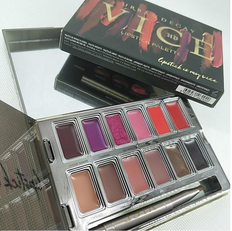Vice Lipstick 12 Colors Lip Gloss Palette Cream Lip Makeup Long Lasting Cosmetics Limited Edition Lip Gloss Palette