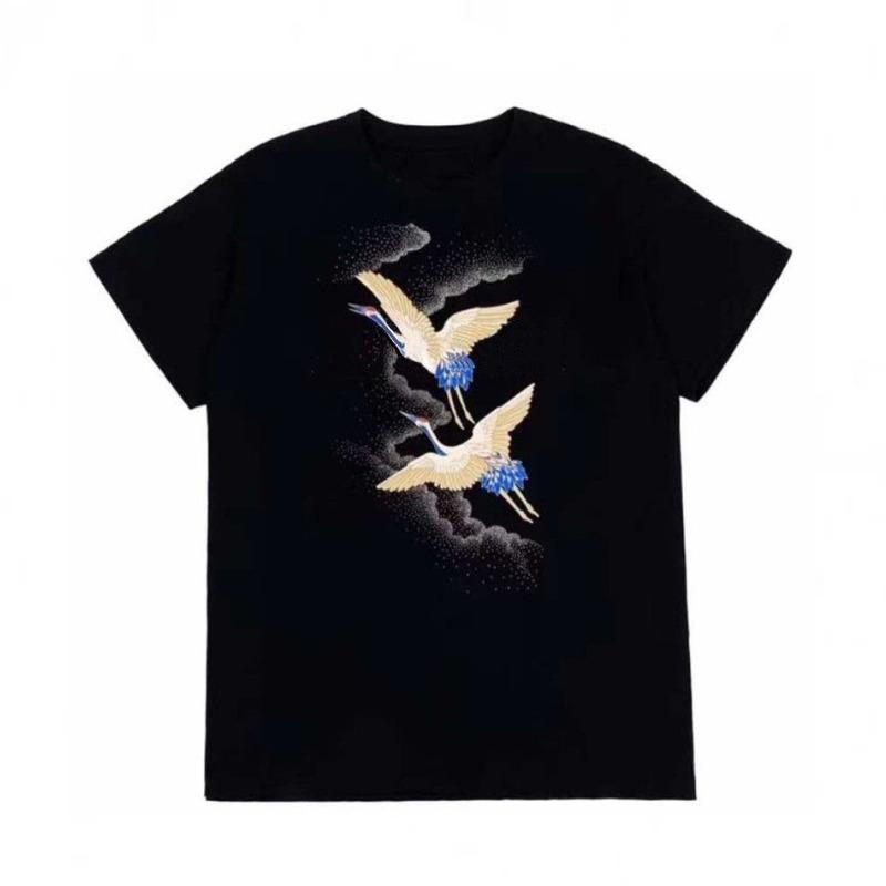 Mode Hommes T-shirt d'été T-shirt de haute qualité pour hommes Styliste T-shirt Hip Hop Hommes Femmes Noir à manches courtes T-shirts Taille S-XXL