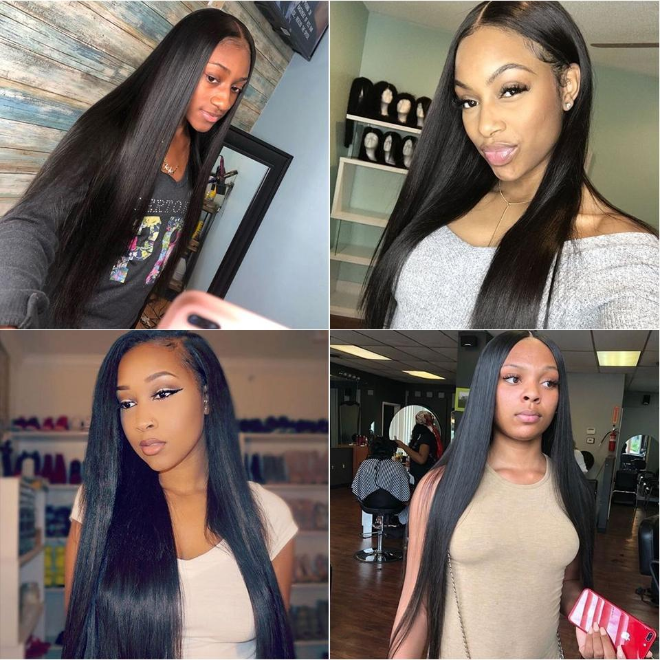 Hetero Frente Lace completa Cabelo Humano Perucas da Mulher Negra mongol Virgin peruca de cabelo com bebê Bleached Cabelo Nós Pré arrancada
