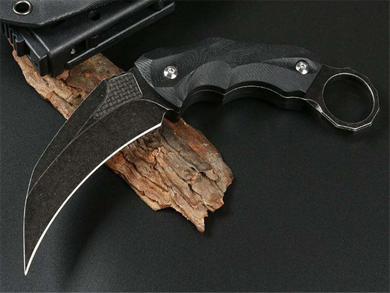 Special offer Wolf claw (two types of carbon fiber) D2 Black G10 handle 58HRC camping hunting knife folding knife