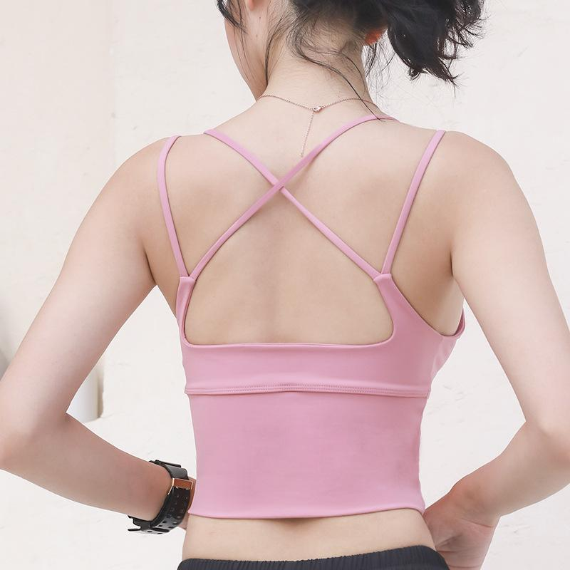 2020 Womens Tennis New Sports Bra Red à prova Beauty Voltar aptidão que funciona European American-Style shuang xi dai Yoga / 30