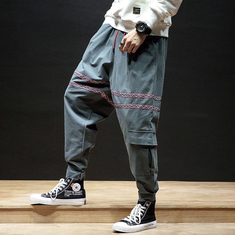 Mens Japanese oversize 5xl hip hop clothing streetwear harem pants cross pants men baggy joggers male loose Pants