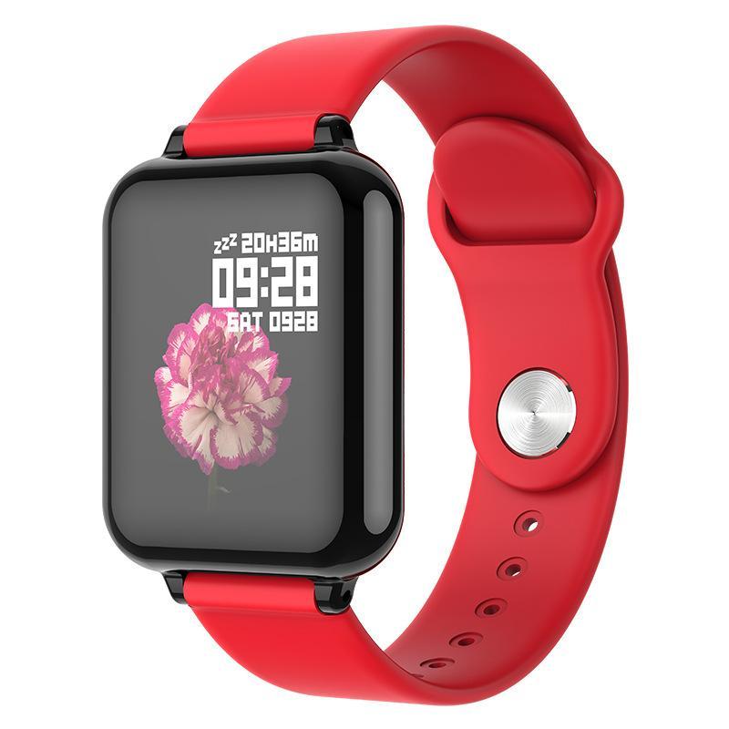 1pc Einzelhandel B57 intelligenter Uhr Fitness-Armband Tracker Smartwatch Herzfrequenzmonitor mehr Sportmodus Männer Frauen Smart Band Uhr