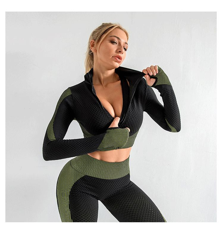 Heiße Verkaufs-Frauen Sportswear Yoga Set Fitness Gym Kleidung Laufen Tennis-Shirt + Hosen-Yoga-Gamaschen Jogging-Training-Sport-Klage 20042002W
