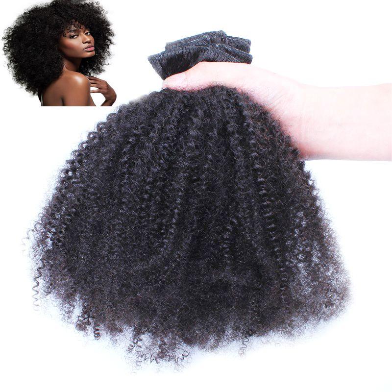 "African American Mongolian virgin afro kinky curly hair clip in human hair extensions 100g Virgin curly clip remy hair extensions 18"" 20"" 22"