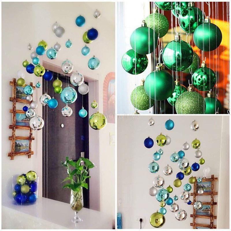 Arbre de Noël Décor Boule Babiole Hanging Décorations pour Xmas Party Nouvel An Décoration Boule de Noël en plastique de 6ZHH189