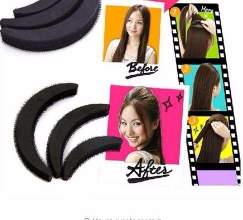 3 Size/set Hair Styling Clip Stick Bun Maker Volume Base Braid Insert Tool Styling Tool Hair Accessories
